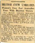 British Crew Unbeaten