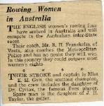 Rowing Women in Australia