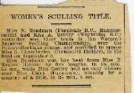Women's sculling title